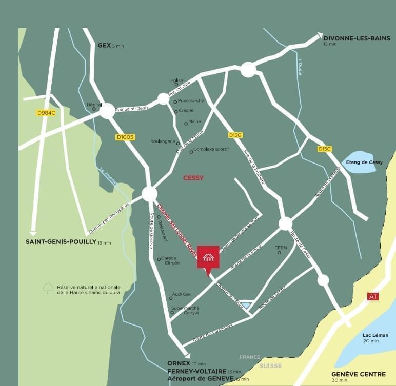 Résidence à Cessy Vue imprenable sur le Mont Blanc, A 16 km de Genève, Résidence de standing,