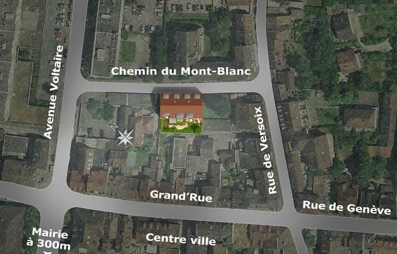 Résidence à Ferney-Voltaire 5 min de l'ONU, Terrasses orientées Sud-Ouest, Commune prisée du lac Léman,