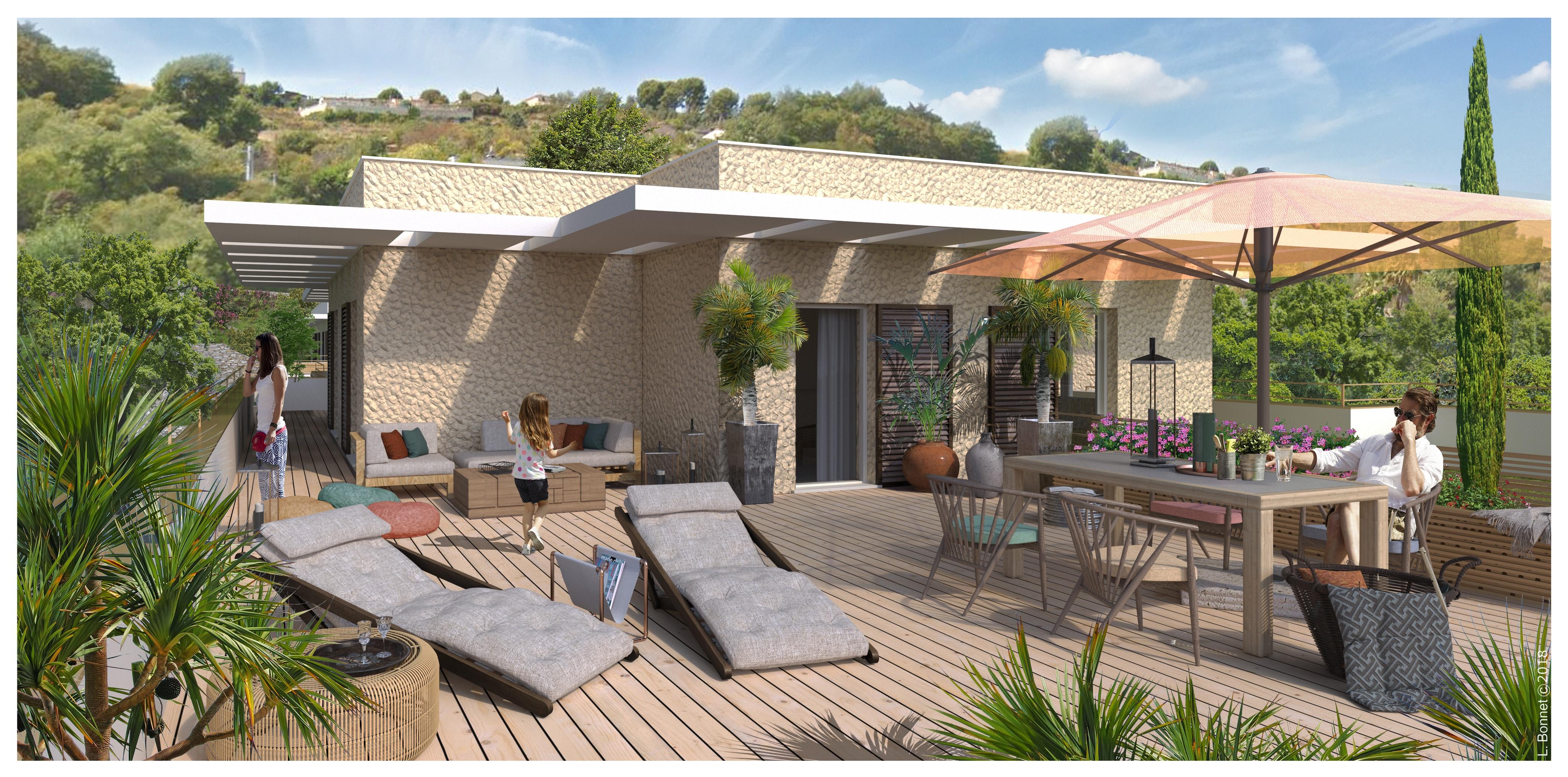 Résidence à Cagnes-sur-Mer Environnement de qualité, Architecture contemporaine, A proximité de toutes commodités,