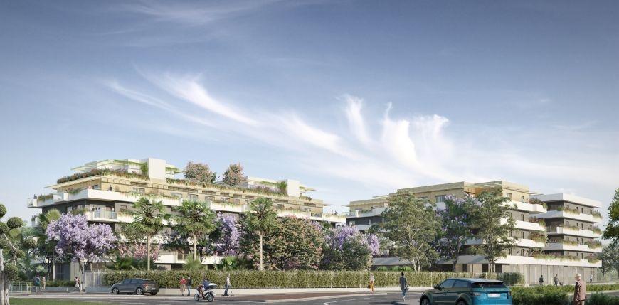 Résidence à Cagnes-sur-Mer Construction favorisant les énergies renouvelables, Dans un parc arboré de 1700 m², Prestations alliant confort et bien-être,