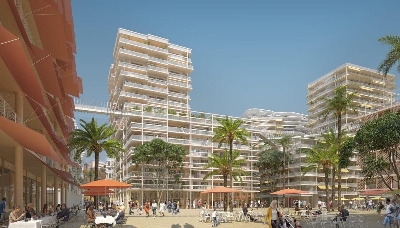 Résidence à Nice Au cœur du quartier éco-responsable Joia, Relié au tramway, à l'A8 et à l'Aéroport, Patio intérieur verdoyant et belles vues dégagées, ,