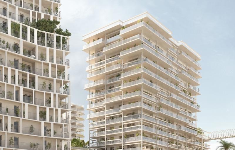Résidence à Nice Au coeur du quartier Joia, Accès au tram, autoroute A8, jolies vues, jardin paysager,