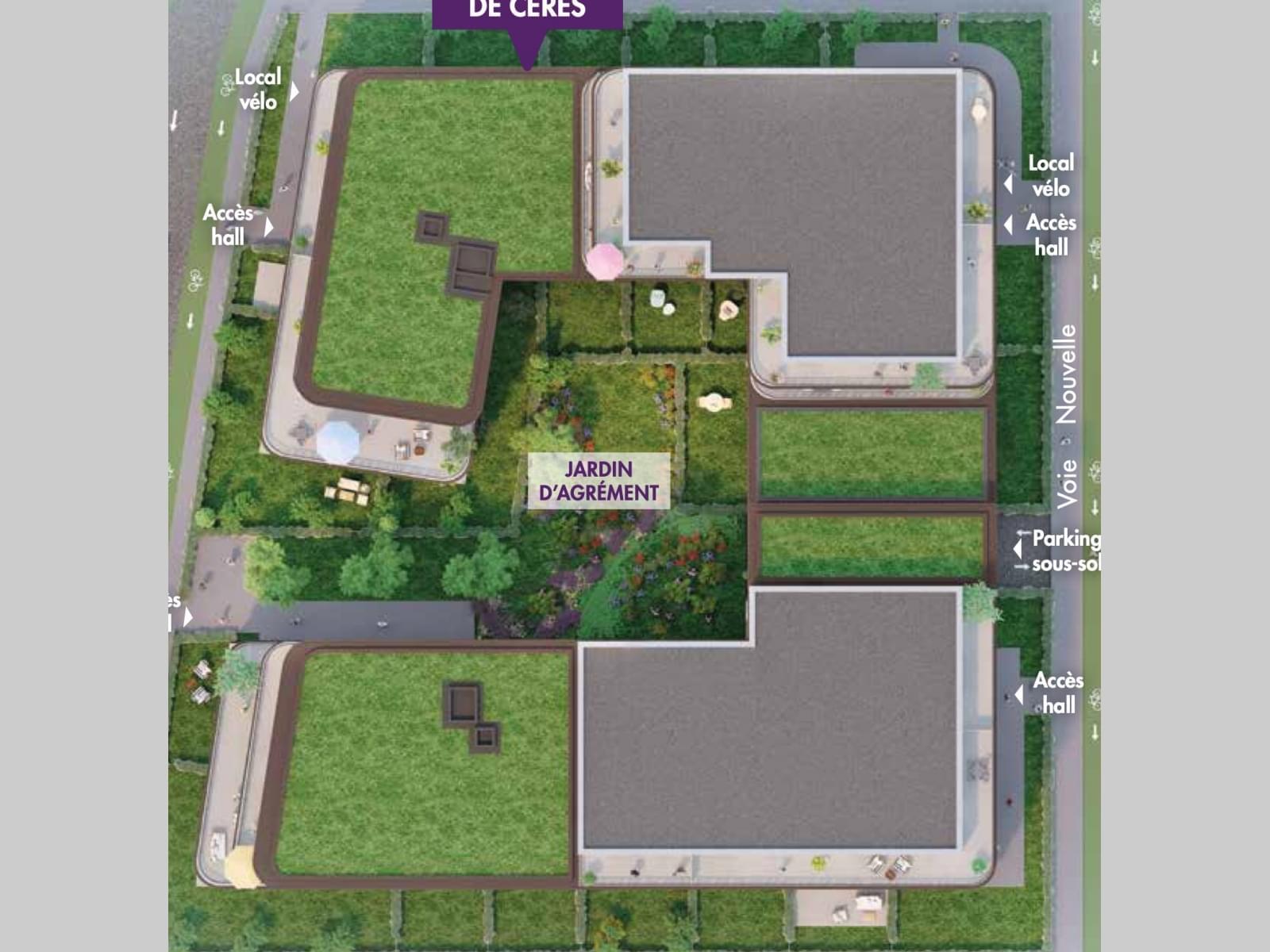 Résidence à Schiltigheim A 10 minutes de Strasbourg en vélo, Quartier Fischer, Terrasses, balcons, jardins,
