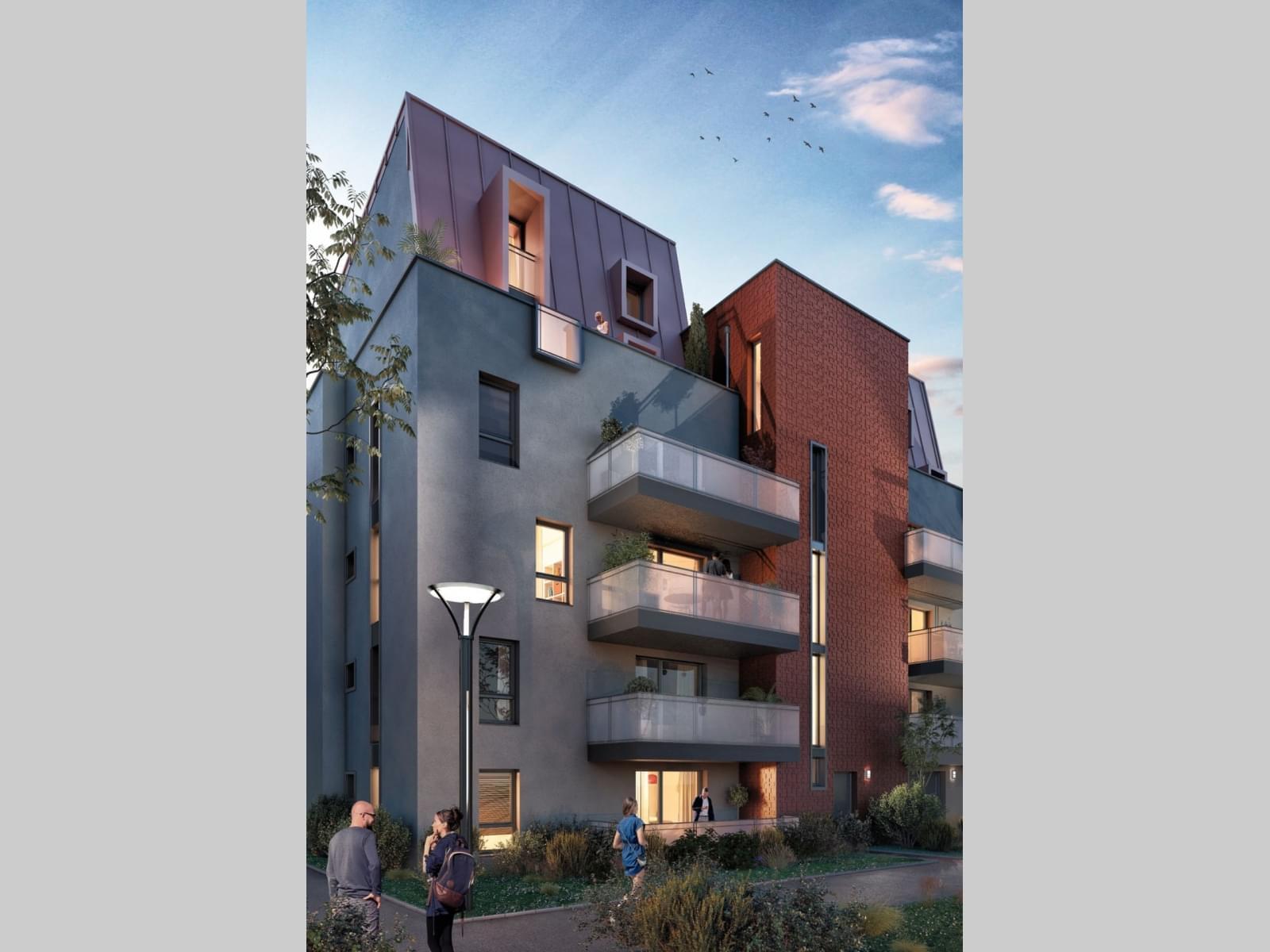 Résidence à Dijon Au coeur de Dijon, Modernité et Architecture traditionnelle,