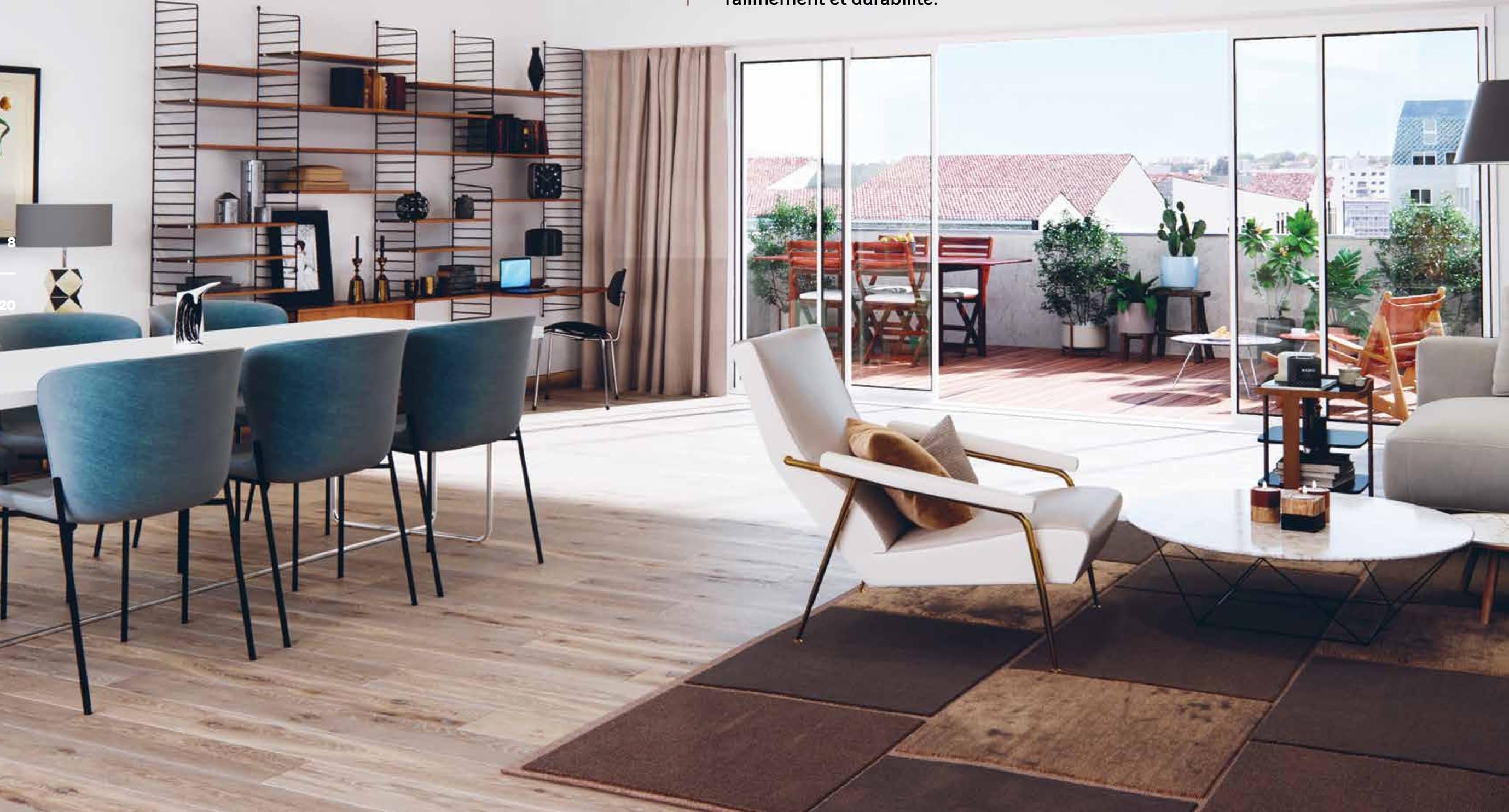 Résidence à Bordeaux Centre ville, Architecture moderne, Les commerces ,
