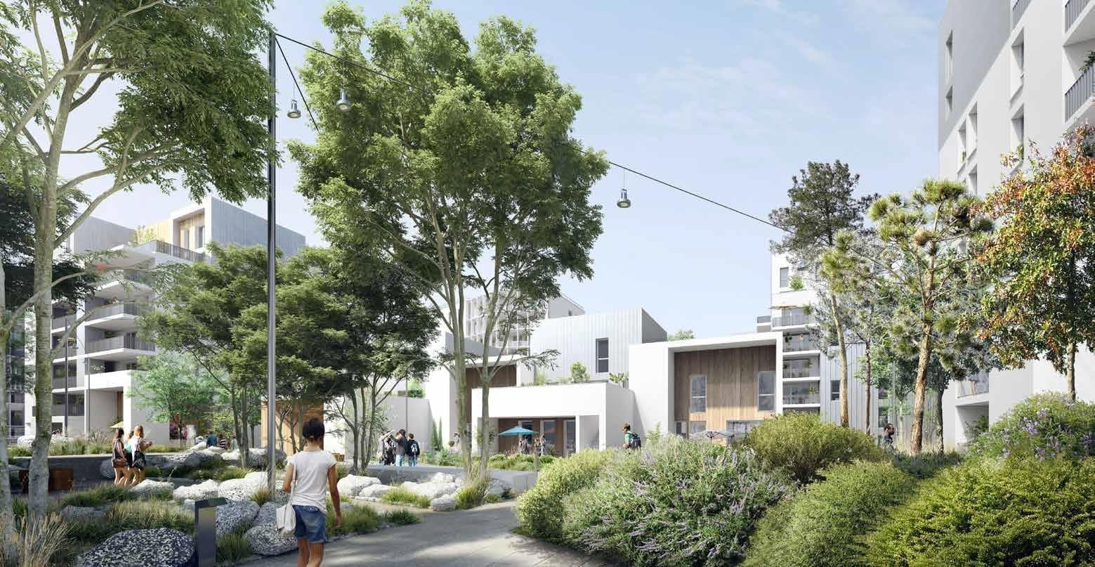 Résidence à Bordeaux Label Eco-Quartier , Coeur d'îlot paysagé, Tramway ligne C, Des commerces de proximité, Crèches, groupes scolaires ,