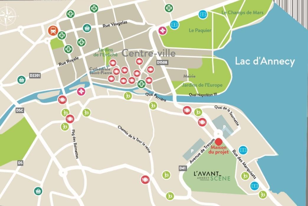 Résidence à Annecy Proche du Lac d'Annecy, Proche centre ville, Balcons et terrasses avec vue sur le lac, ,