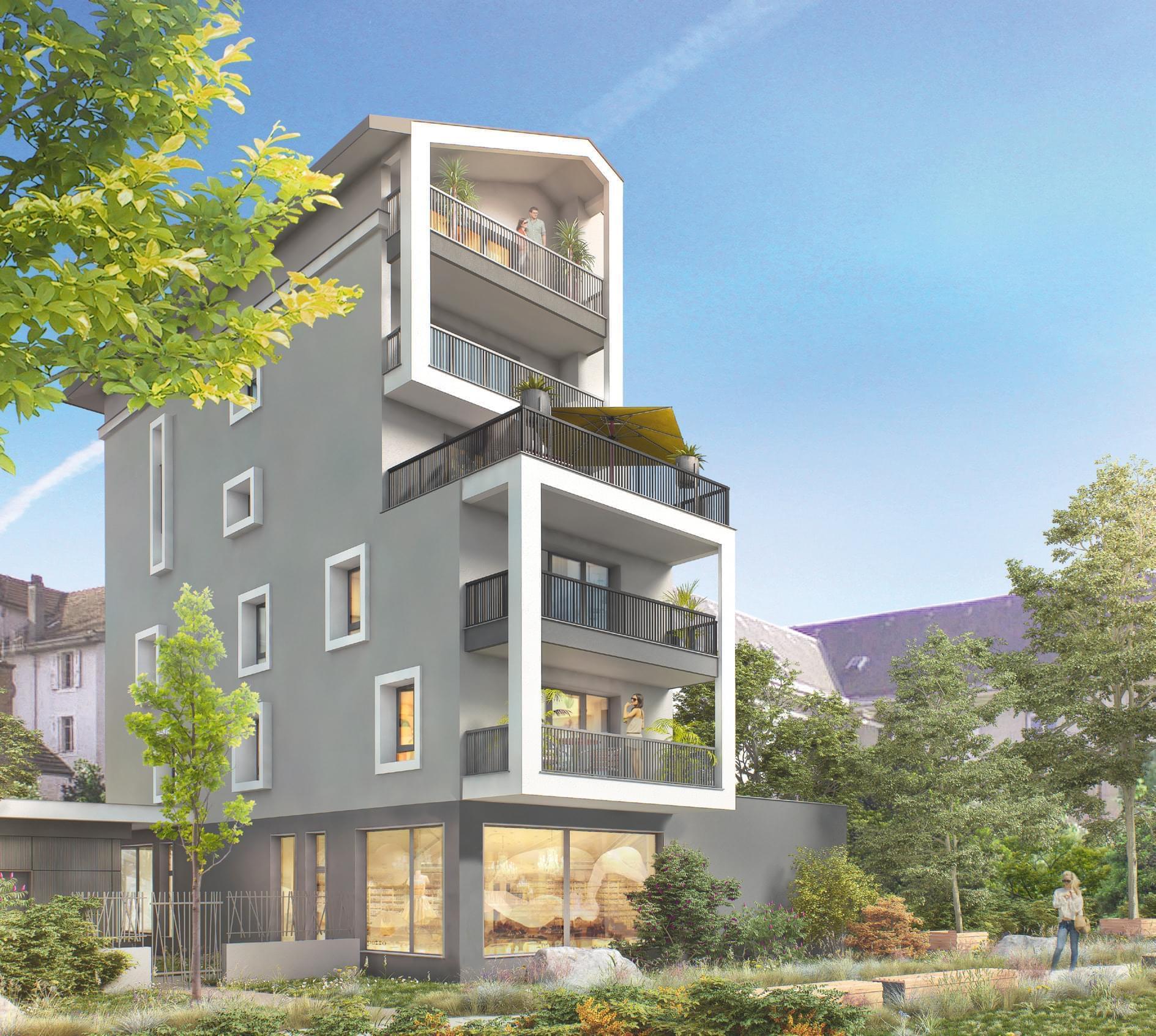 Résidence à Annemasse Petites surfaces pour défiscalisation, Eligible dernière année loi Pinel, Appartements traversants, Belles prestations, Pack domotique Flex'home,