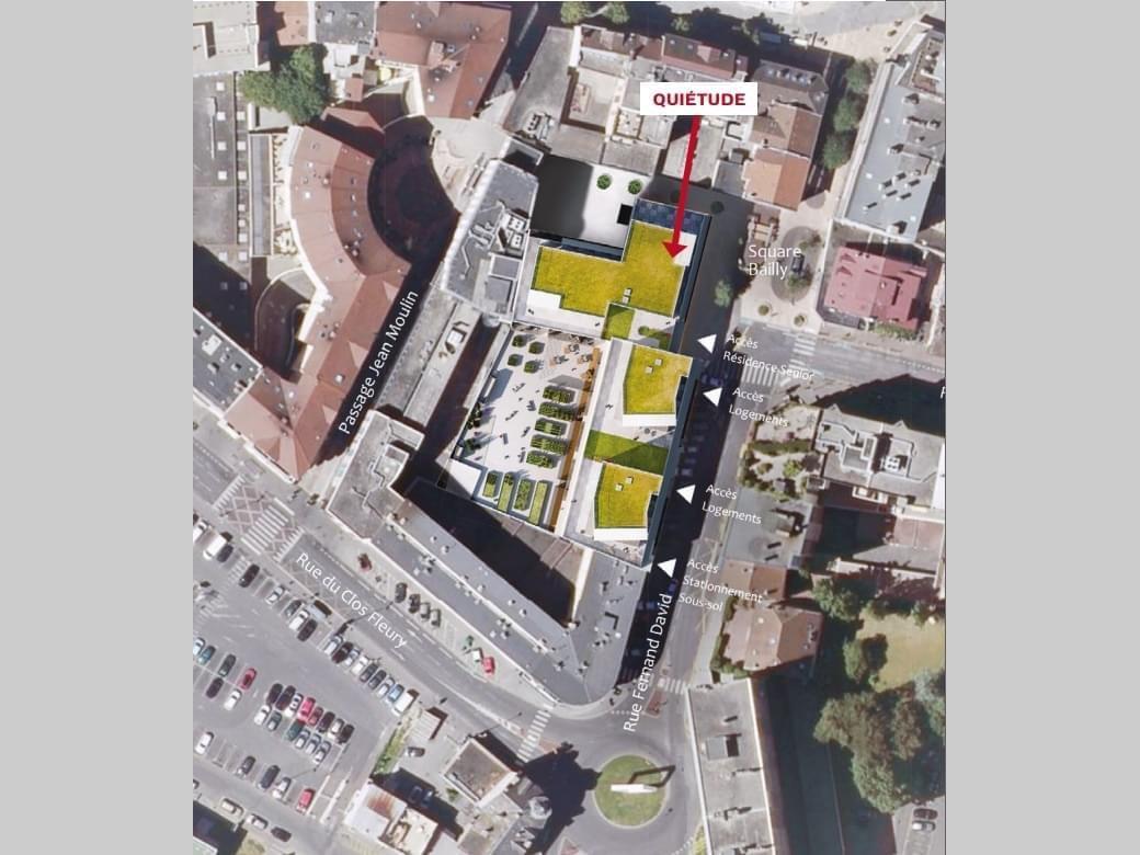 Résidence à Annemasse Commerces et place du marché au pied de la résidence, Jardin commun privatif avec son propre potager, Des services sur mesure proposés,