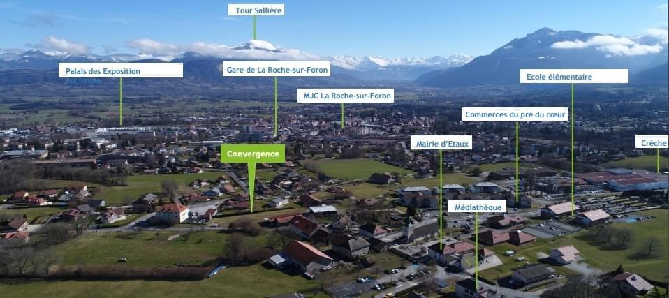 Résidence à Etaux A 3 minutes de la gare de la Roche sur Foron, Accès direct à l'A41, Au cœur du Bourg d'Etaux,