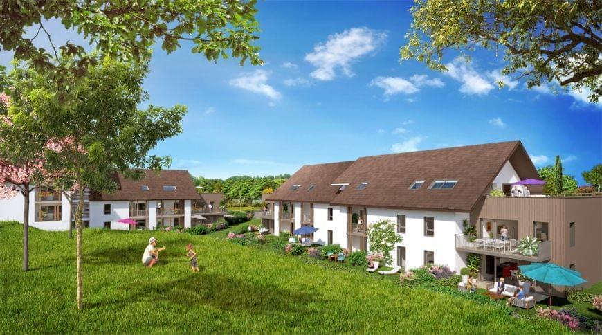 Résidence à Maxilly-sur-Léman Terrasses et balcons, Proche lac Léman, Normes BBC RT 2012,
