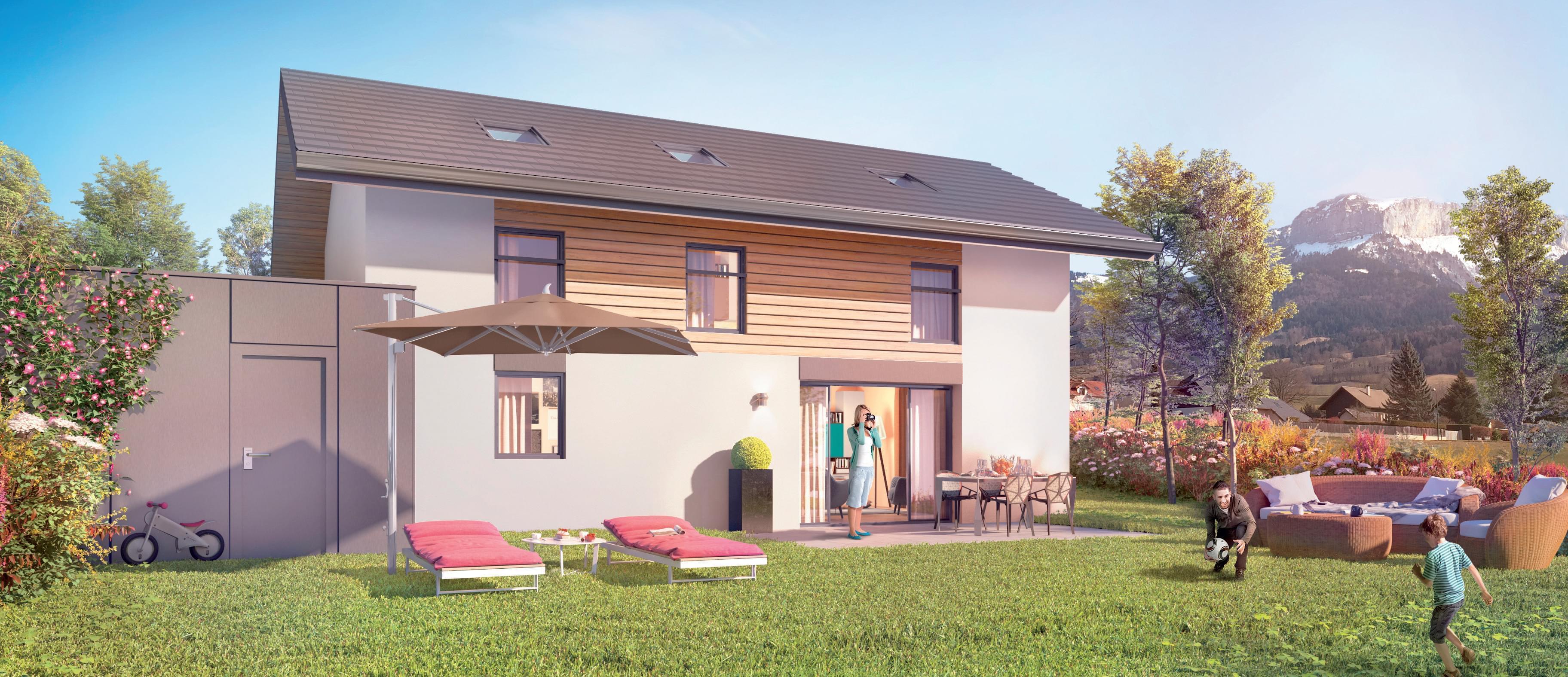 Résidence à Villaz Belles orientations, Très beau programme de maisons, Proche Annecy,