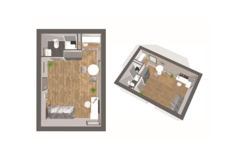 Résidence à Grenoble Proche commerces, Proche transports en commun, Services : ménage, laverie, accueil, salle de fitness,