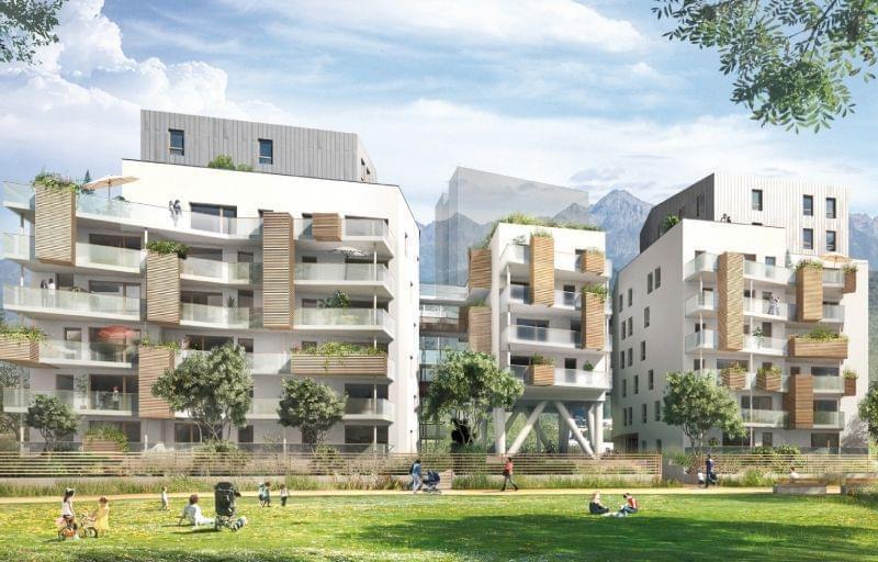 Appartement neuf avec balcon ou terrasse à Grenoble éligible loi Pinel et livrable 2017 : résidence l'Aptar