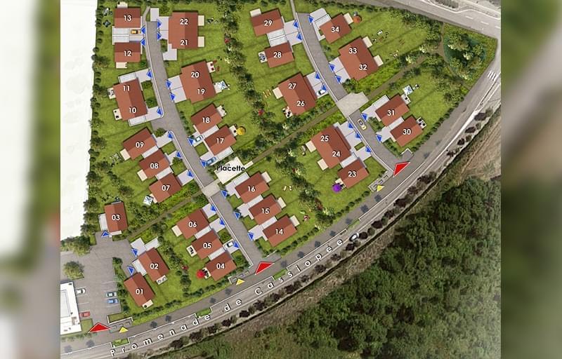 Résidence à L'Isle d'Abeau Résidence sécurisée, Proche écoles et commerces, Proche autoroute et gare TER, A mi-chemin entre Lyon et Grenoble,