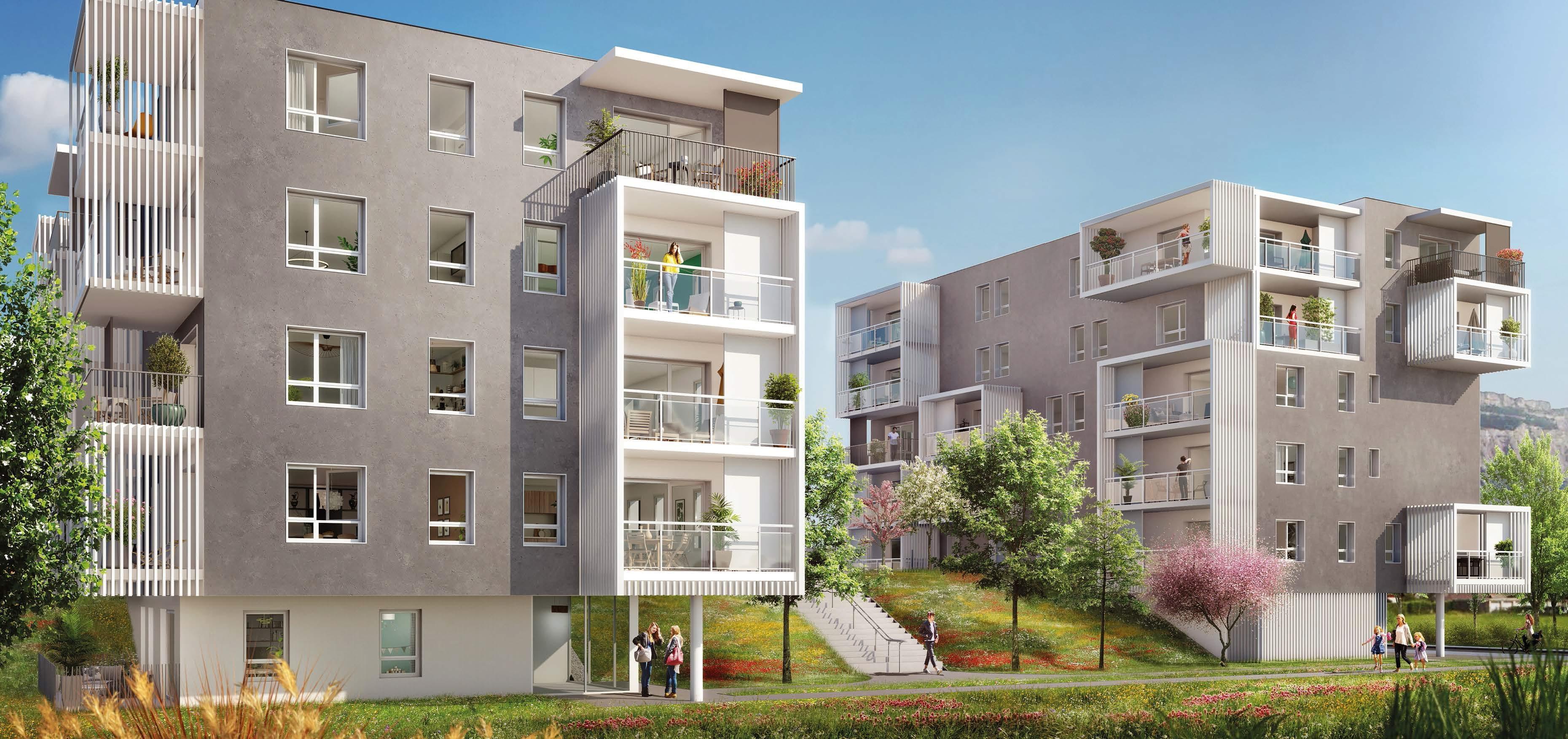 programme immobilier neuf dans un co quartier de saint martin d 39 h res 38400 achat immobilier. Black Bedroom Furniture Sets. Home Design Ideas