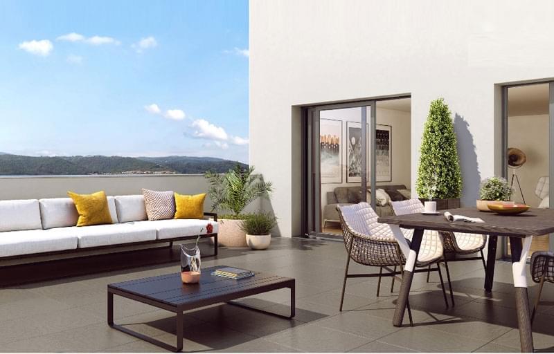 Résidence à Clermont-Ferrand Espaces extérieurs pour tous les logements, Parking, Architecture élégante,