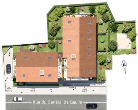 Résidence à Brignais Verdure, Centre ville, Finitions de qualité,