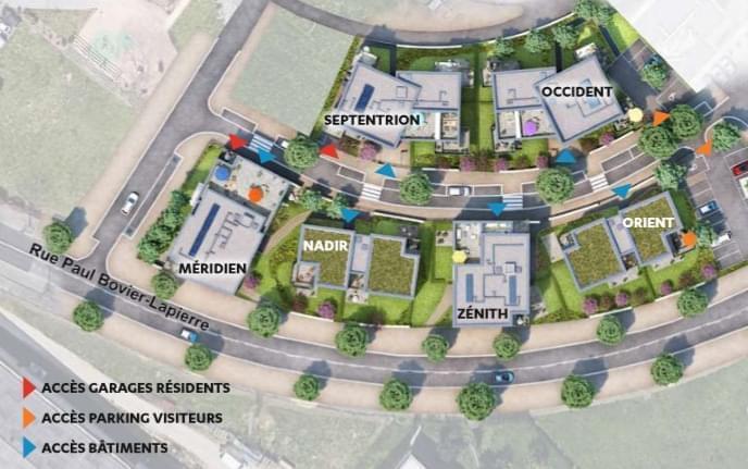 Résidence à Brignais Panneau photovoltaiques pour auto-consommation, Proche centre commercial saint Genis 2, Proche Ecoles,