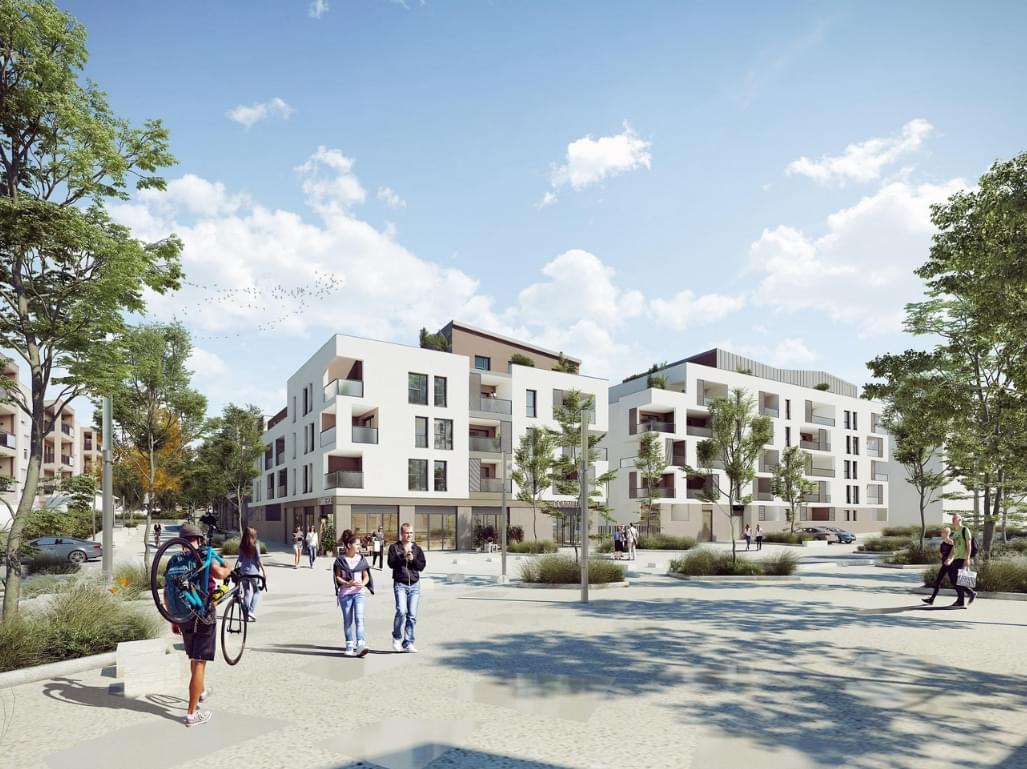 Résidence à Brignais Cœur de Brignais, Chaque appartement est doté d'un balcon ou d'une terrasse, 20 minutes Lyon en Tram train, ,