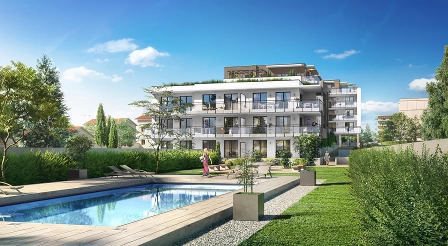 logement neuf caluire vernay comme une excellence r sidence avec piscine. Black Bedroom Furniture Sets. Home Design Ideas