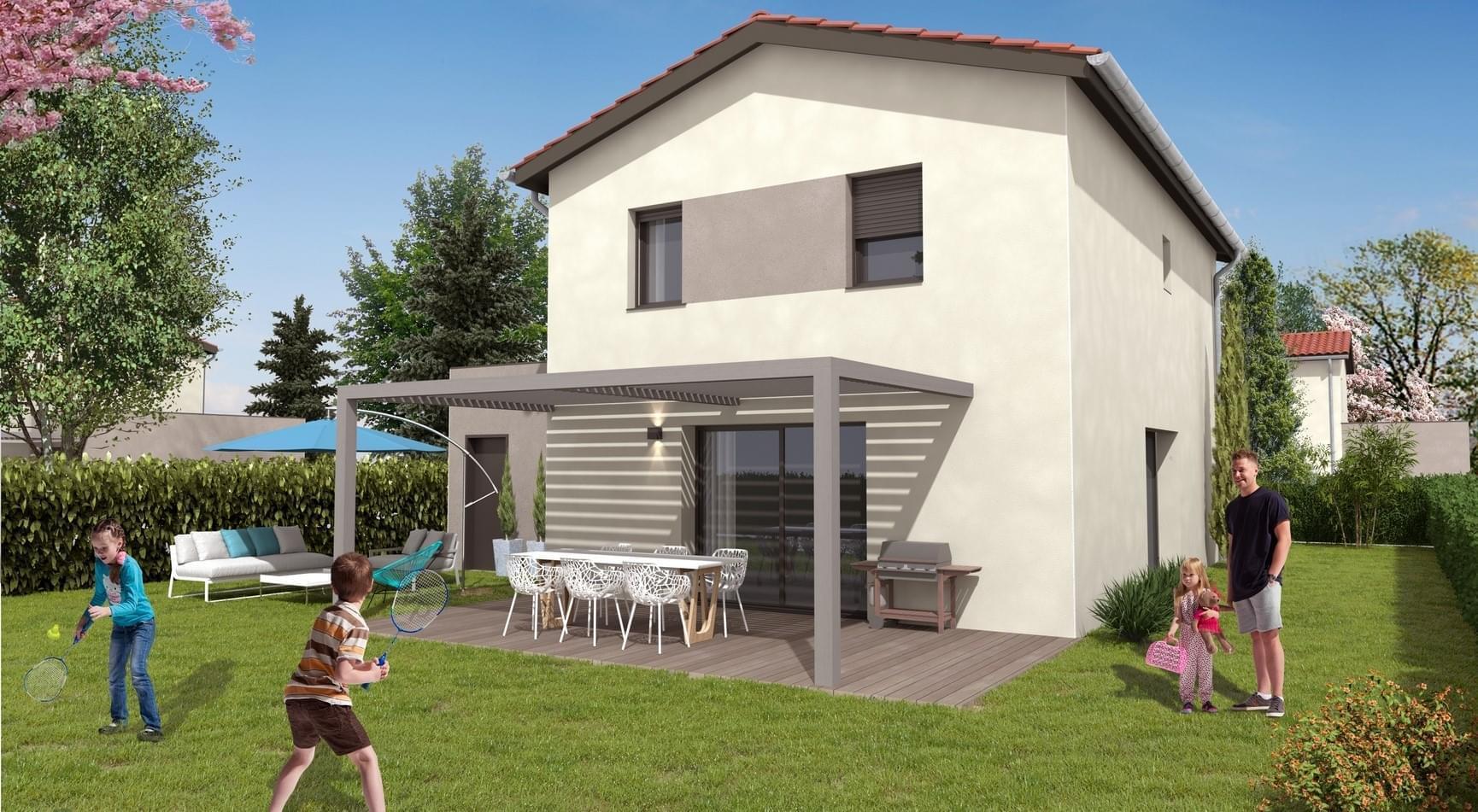 Résidence à Charly Panneaux photovoltaiques en toiture, Seulement à 20 minutes de Lyon, Grand espace de vie, Terrasse et jardin pour chaque lot, ,