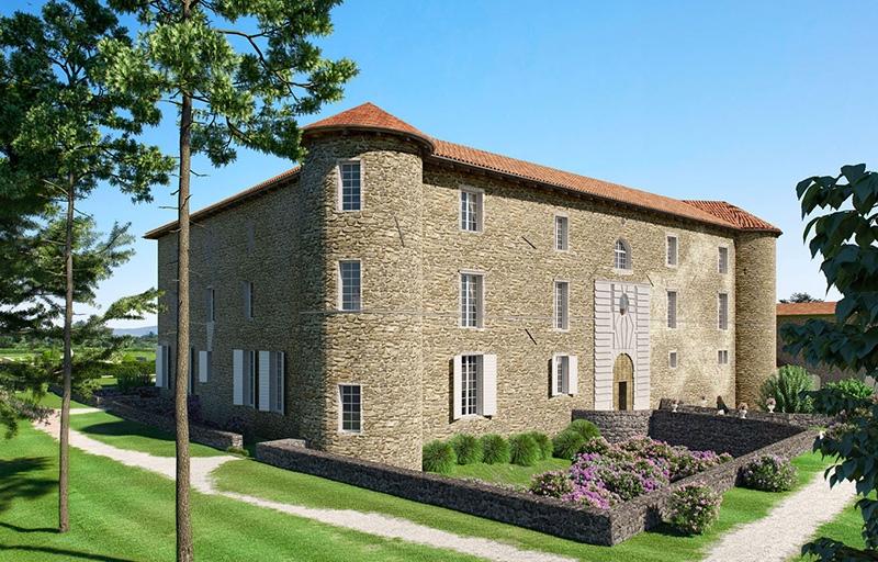 Résidence à Chassagny A 20 minutes du sud de Lyon, Joli cadre, Jardins et terrasses privatifs,