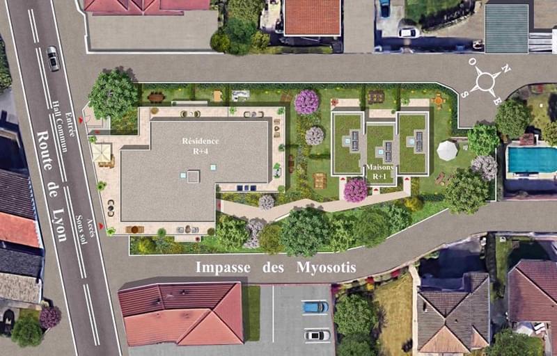 Résidence à Chassieu Environnement pavillonnaire, Proche commerces et services, Résidence élégante,