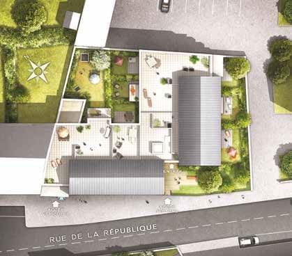Résidence à Decines Charpieu Seulement 29 appartements, Certains duplex ou grande terrasse, Proximité commodités,