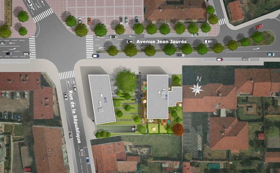 Résidence à Decines Charpieu Adresse ultra centrale à Décines, Balcons, double orientation, Toutes commodités à proximité,