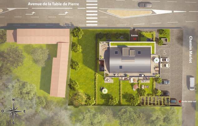 Résidence à Francheville Balcons et terrasses, Résidence neuve intimiste, Architecture épurée et design,