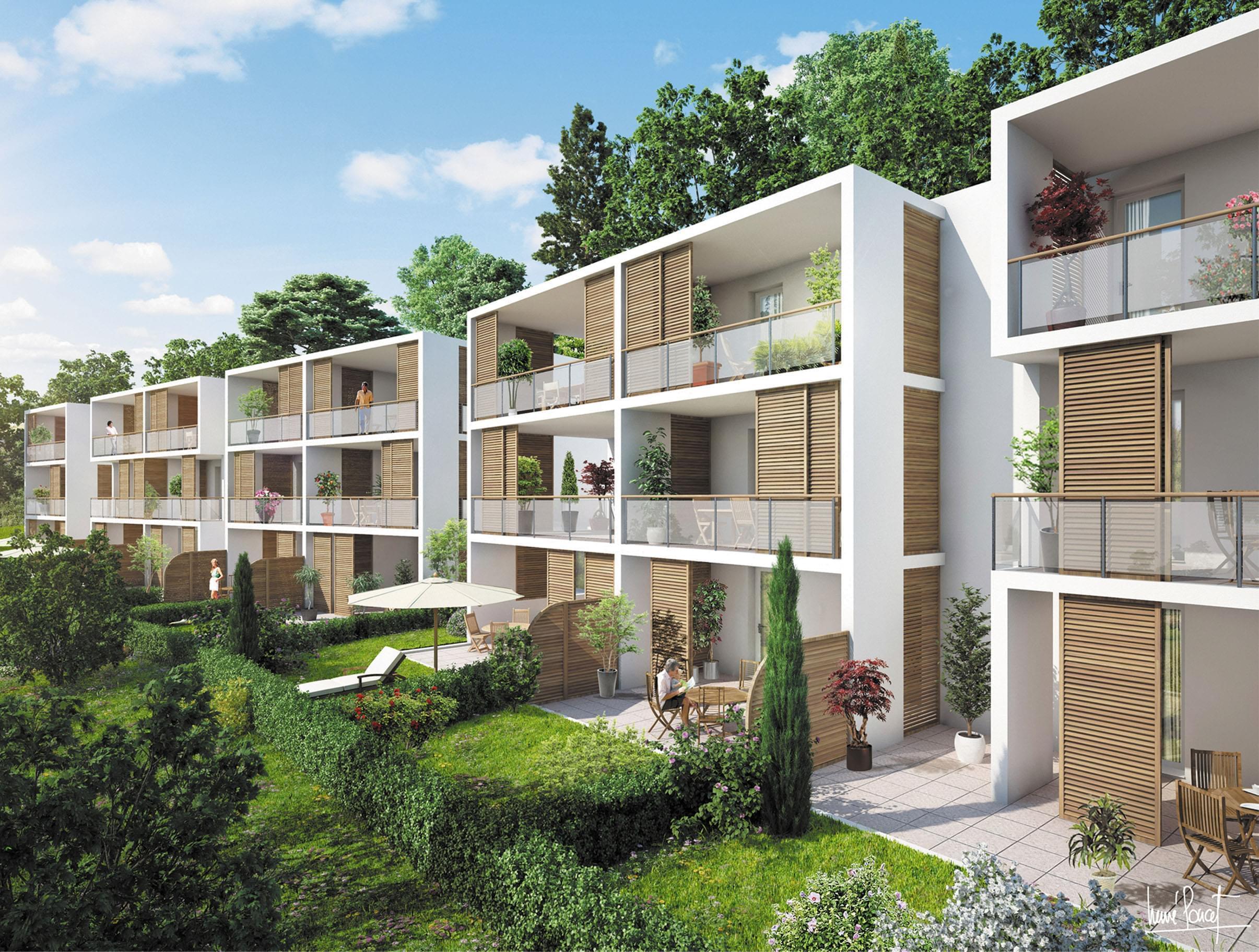 Résidence à Francheville Carrelage grand format Porcelanosa, Parquet dans les chambres, Chauffage gaz individuel,