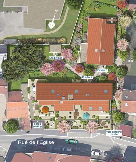 Résidence à Francheville Batiments R+2, Petites surfaces T2, Idéal pour investir en Pinel,