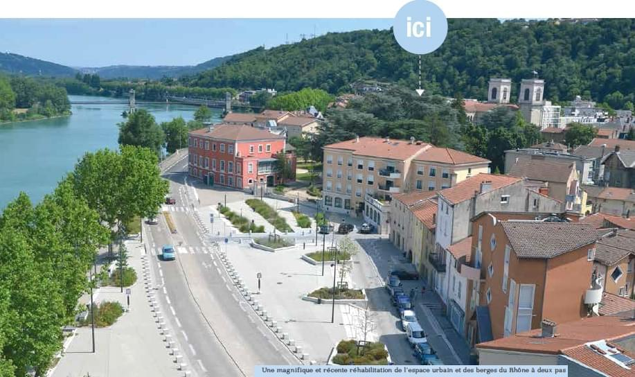 Résidence à Givors Ecoles, Commerces, Bord du Rhône,