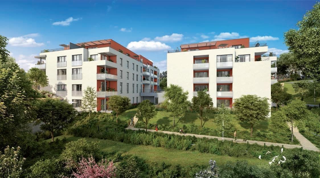 Résidence à Grigny Intimiste, Rooftop, Larges balcons,