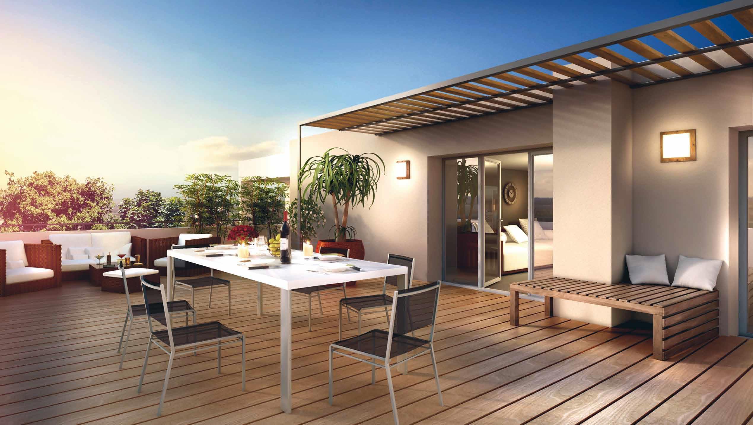 Logement neuf lentilly les jardins de lentilly for Toit terrasse immobilier
