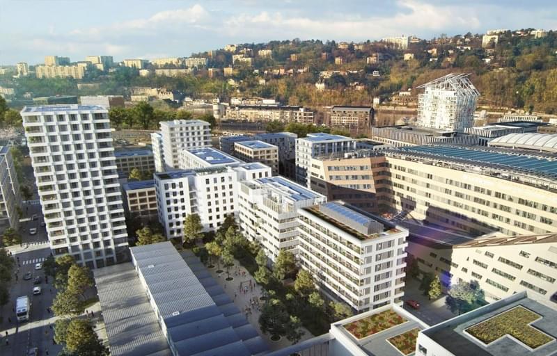 Résidence à Lyon 2 Proche de Lyon Perrache, Proche du centre commercial de Confluence, Première réalisation bois et bas carbone de Lyon,