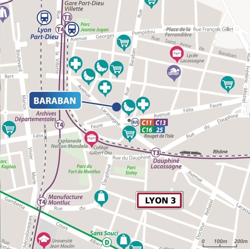 Résidence à Lyon 3 Tramway, commerces, Proche Part Dieu, Tarifs attractifs,