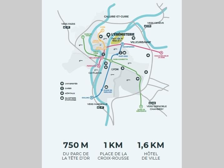 Résidence à Lyon 4 Localisation convoitée, Proche commerces, Proche parc Tête d'or,