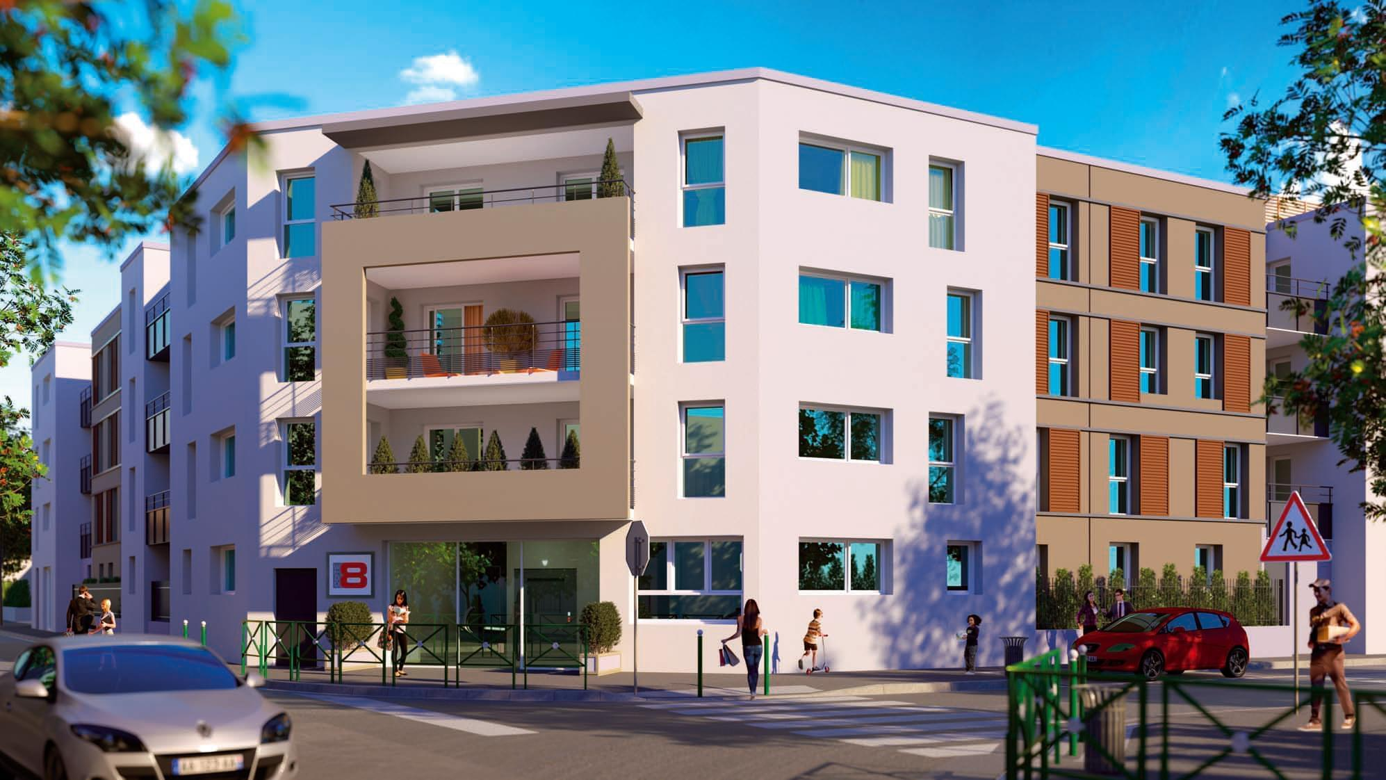 logement neuf pour investir lyon 8 moulin vent c t. Black Bedroom Furniture Sets. Home Design Ideas