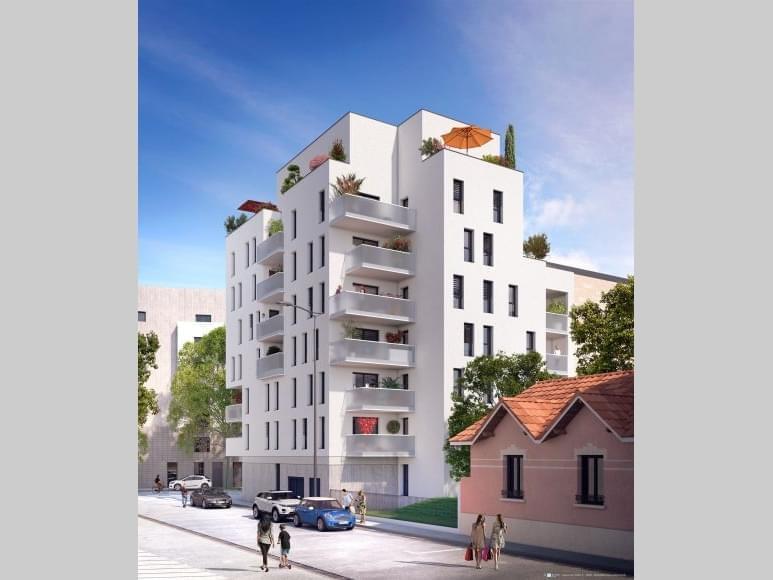 Résidence à Lyon 8 Quartier côté de Monplaisir, Petite copropriété, Prestations soignées,