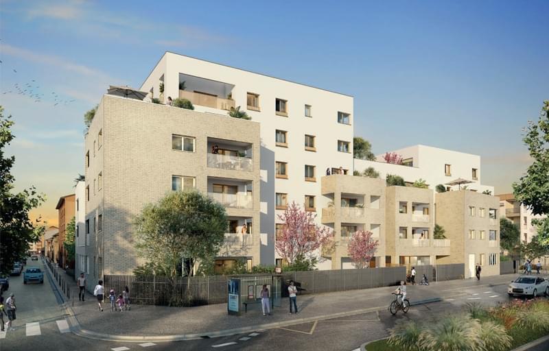 Résidence à Lyon 8 Proche de Bellecour, Logements haut de gamme, Idéal loi Pinel,