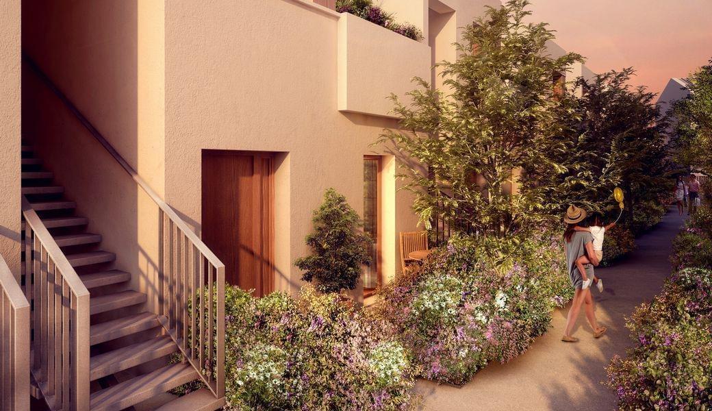 Résidence à Lyon 9 Taille humaine, Petite copro, Matériaux écologiques, Ecrin de verdure, Prox Lyon 5 / Tassin,