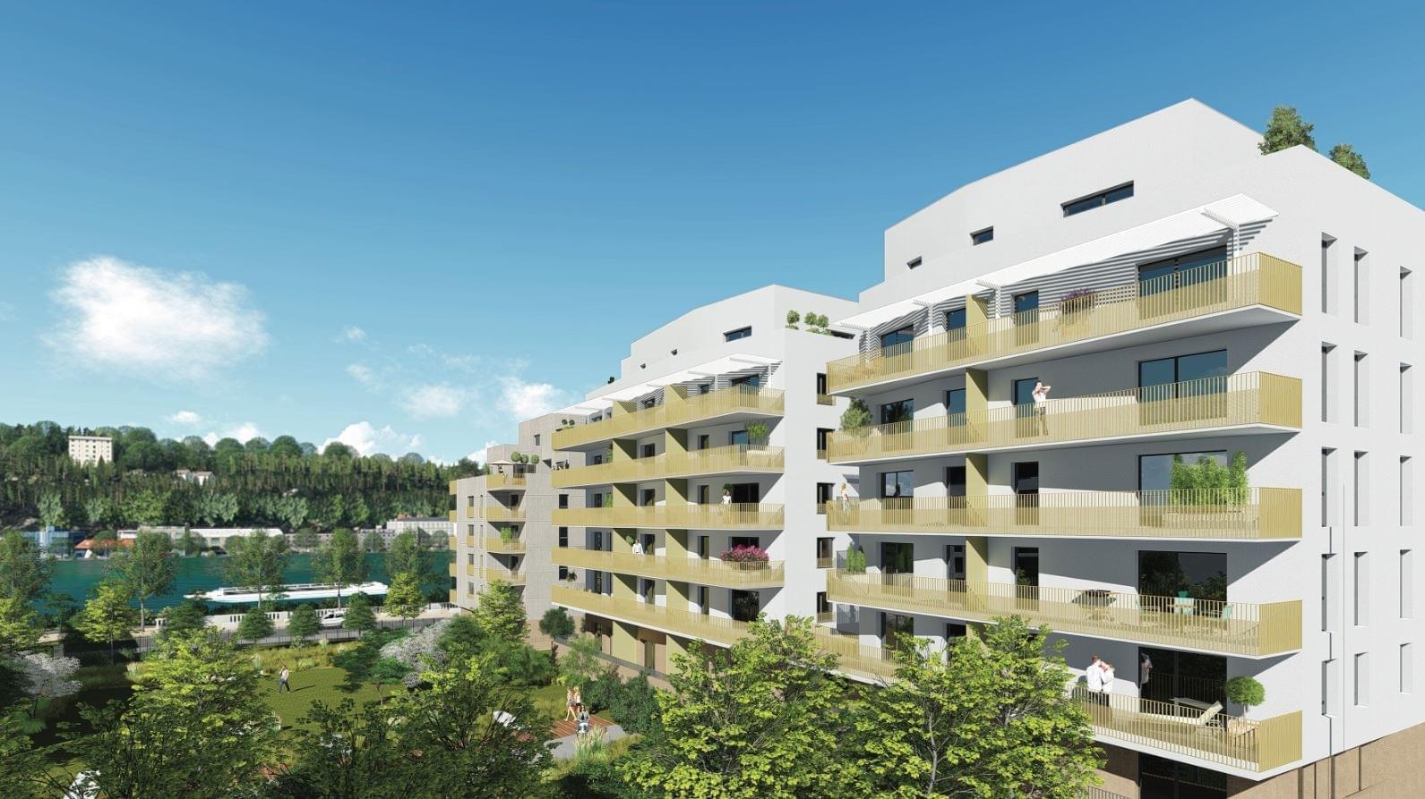 Résidence à Lyon 9 Vue sur Saône, Ile Barbe, Toits terrasses,