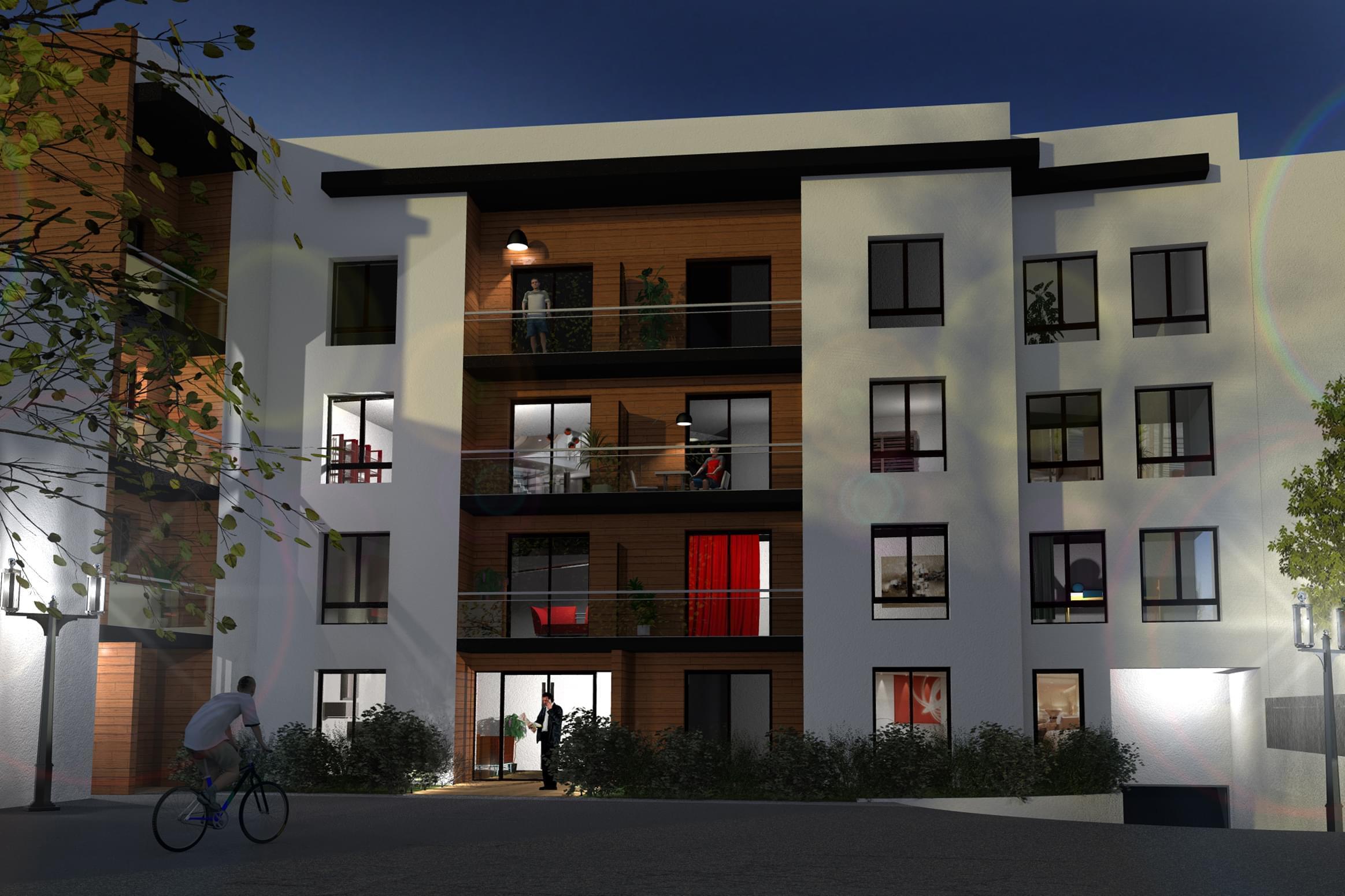 Programme immobilier neuf meyzieu carr r publique for Prix m2 meyzieu