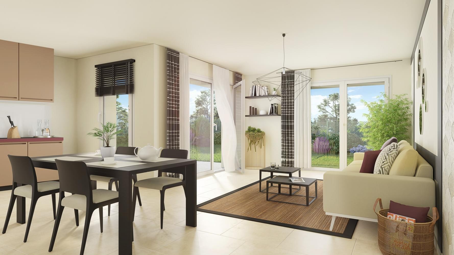Votre appartement neuf avec balcon, terrasse ou jardin à Meyzieu ...