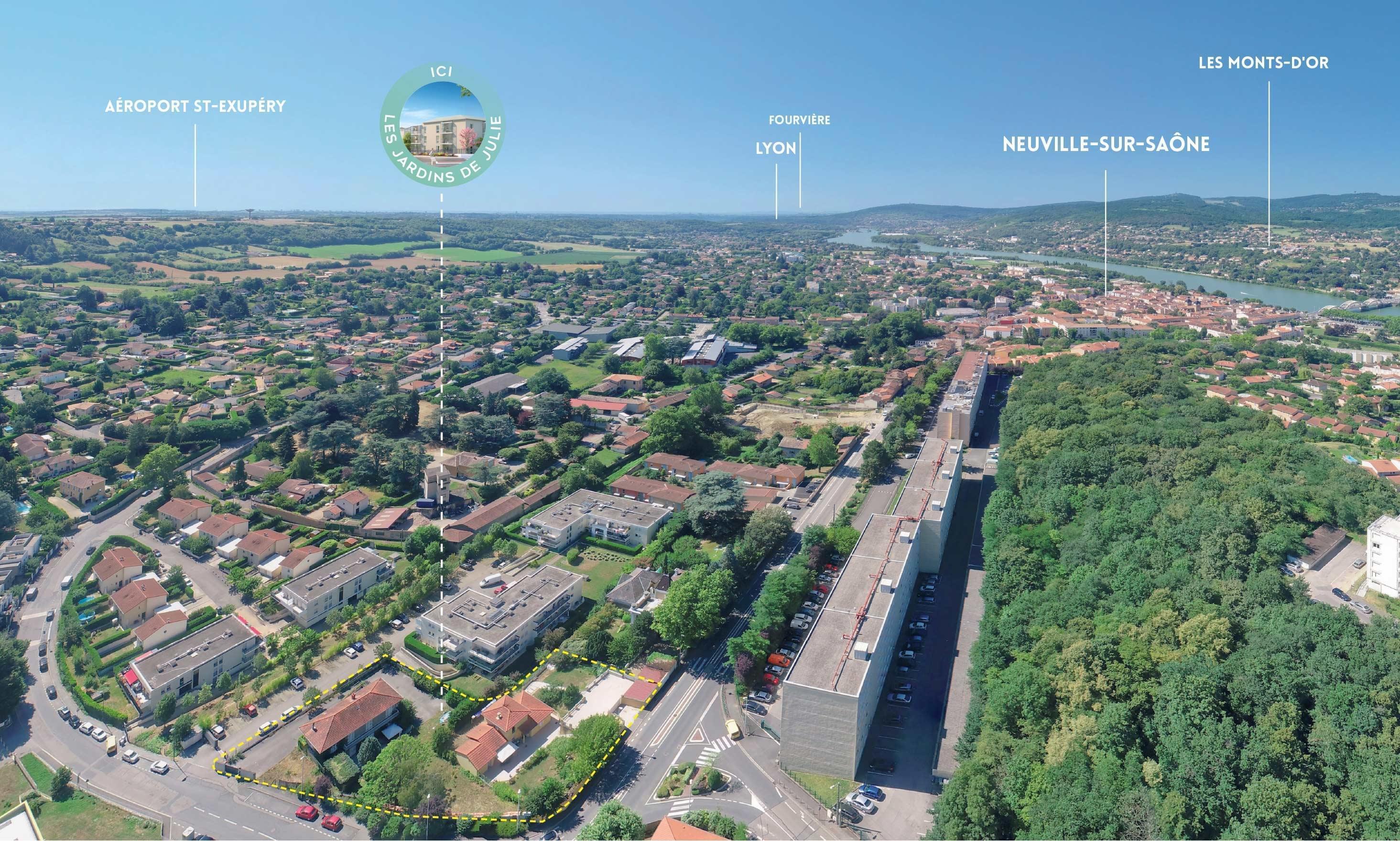 Résidence à Neuville sur Saône Petite copropriété, Appartements neufs lumineux, Espaces verts agréables,