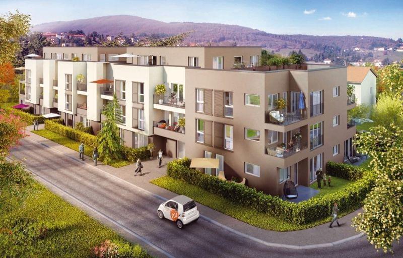 Immobilier neuf à Pollionnay centre avec le projet de construction Bleu Horizon