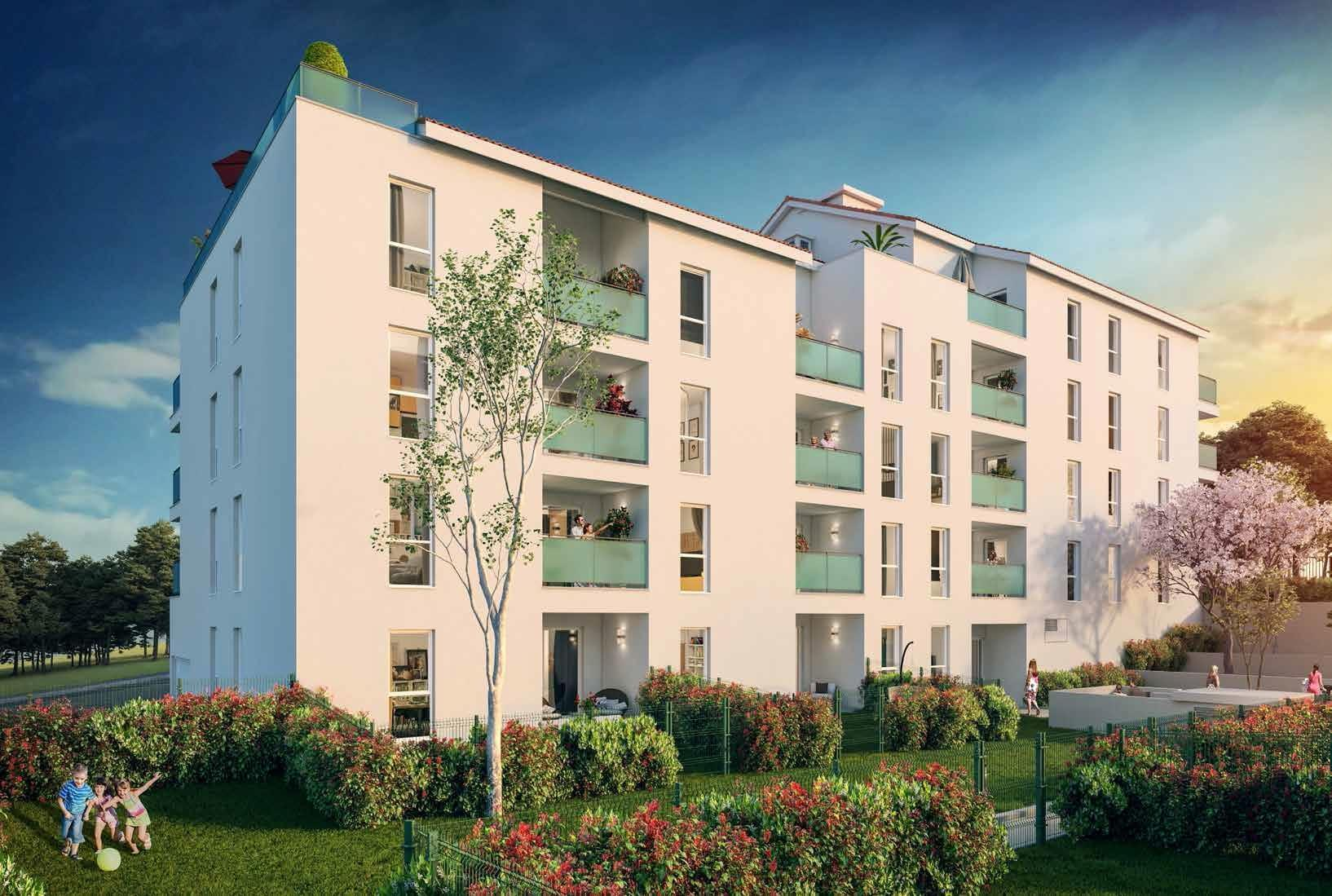 Résidence à Saint Fons Centre ville, Appartements lumineux, Résidence neuve,