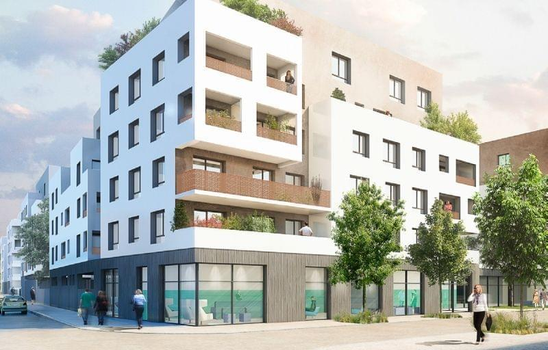 Programme immobilier avec apaprtements terrasse en dernier etage a Saint Priest : Element Air